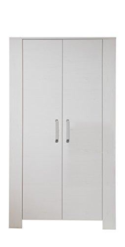 trendteam smart living BZM Kleiderschrank, pinie weiß, 104 x 186 cm