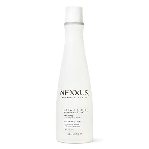 Nexxus Clean and Pure Clarifying Shampoo For Nourished Hair With ProteinFusion, Paraben-Free 13.5 oz