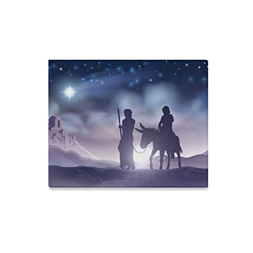 JOCHUAN Wall Art Painting Nativity Christmas Scene Mary Joseph Prints On Canvas The Picture Landscape Pictures Oil For Home Modern Decoration Print Decor For Living Room
