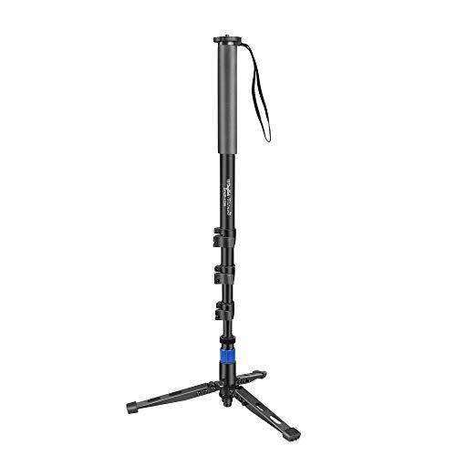 DIGITEK® DPMP 172B Professional Monopod With Tripod Support Base | Ultra Portable & Heavy Duty Design | For DSLR & Video Cameras |Maximum Operating Height: 5.57 Feet| Maximum Load Upto: 10 kgs (Black) (DPMP 172B)