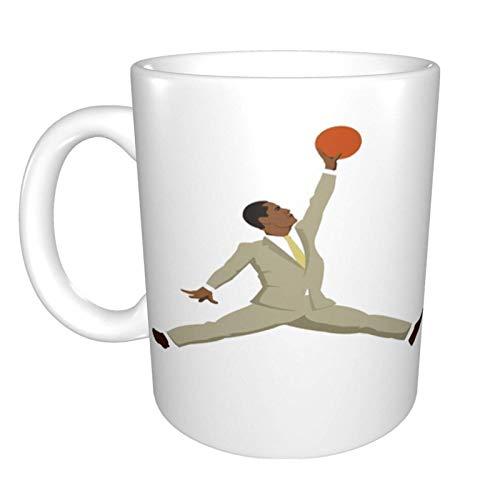 Hdadwy Obama Tan Anzug X Jumpman Home Keramik Teetasse Büro Kaffeetasse 10 Unzen