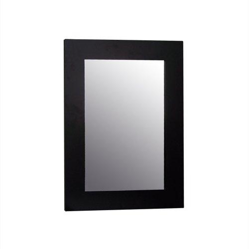 Elegant Home Fashions Chatham Collection Framed Beveled-Edge Glass Mirror, Dark Espresso