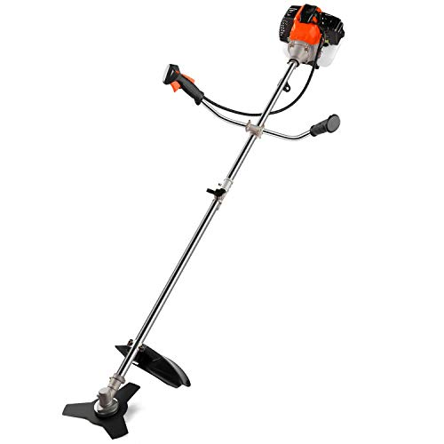 2-in-1 Cordless Grass Trimmer/Edger, 42.7CC 2-Cycle Gas String Trimmer with 2 Detachable Head for Trimming Grass/Weed, Grass Trimmer/Edger/Mini-Mower, Cutting Shrub/Bush