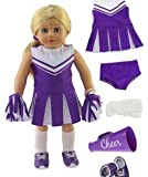 American Fashion World Purple Cheerleader Outfit Cheerleading Uniform Made for 18-inch Dolls fits 18-inch American Dolls and More