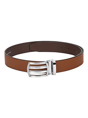 Red Tape Men Tan Leather Belt, Medium (RBL501)