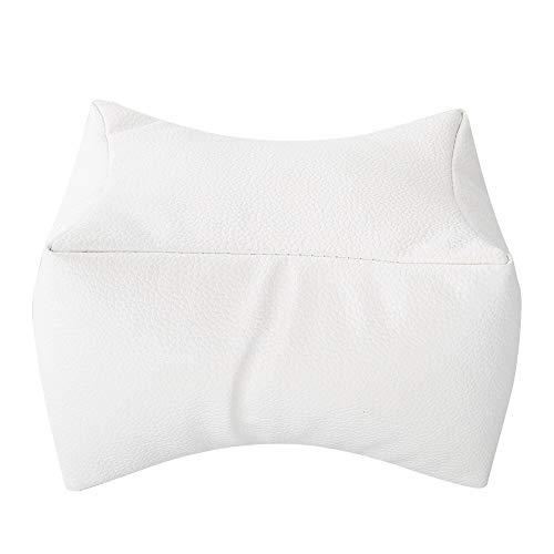 Cojín de mano Almohada-Manicura Reposamanos y almohada de pies Suave PU Reposabrazos Salón Manicura Almohada for el cuidado de las uñas (3 colores) (Color : Blanco)