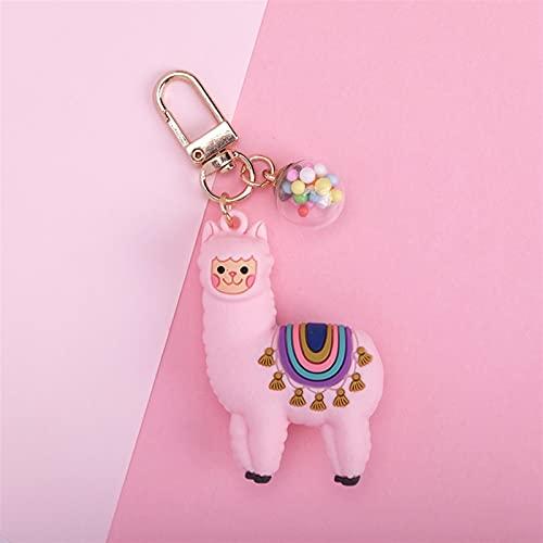 XIAOM Cartoon Alpaca Keychain Llama Catena Chiave Chain Donne Borsa Amore Cuore Colore Pendente a Sfera Pendente Carino Epossidico Alpaca Portachiavi Tinket (Color : 2)