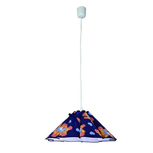 Unbekannt Niños plástico Techo, excl. 1x E27máx. 60W, Pantalla: Azul (9929791812)