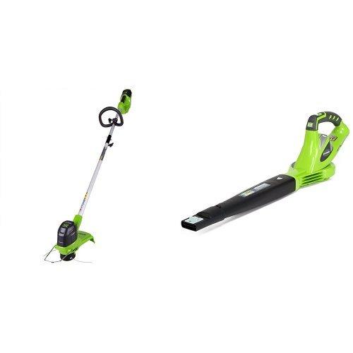 Greenworks G-MAX 40V 12u0022 String Trimmer + G-MAX Sweeper