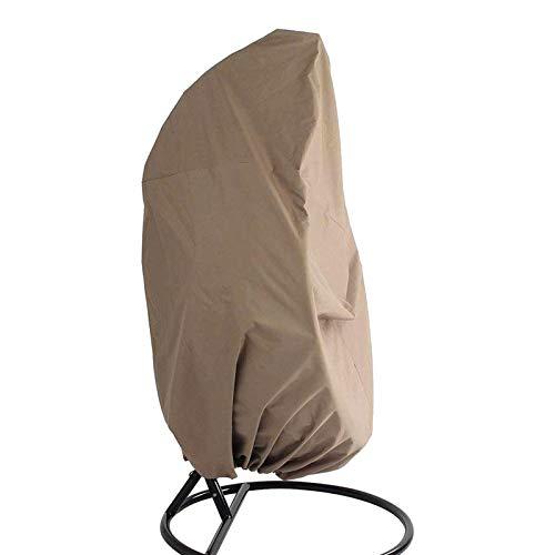 Ototec - Funda de sillón colgante para silla Egg Patio Ratán herramienta de jardín impermeable antipolvo cortavientos exterior 190 x 115 cm beige
