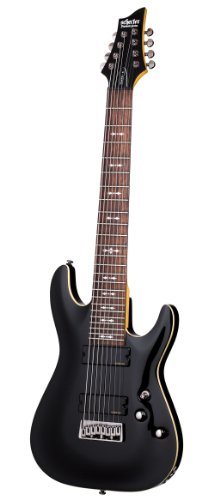 Schecter OMEN-8 8-String Electric Guitar, Black