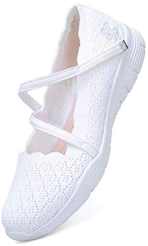 [todaysunny] ナースシューズ スリッポン レディース スニーカー 軽量 デッキシューズ 白 婦人靴 カジュアルシューズ 運動靴 スポーツシューズ ウォーキングシューズ メッシュ 介護靴 黒 大きいサイズ おしゃれ 23cm-25.5cm