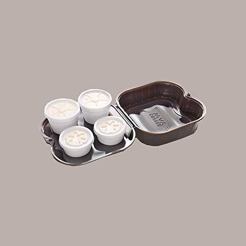 LUCGEL Srl 60 Pz Contenitori Vassoio Porta 4 Caffe COFFEE Take WAY S4 Asporto Marrone Alimentare Food Gastronomia Delivery