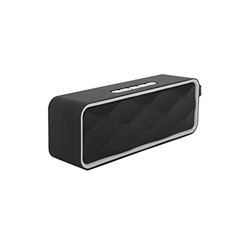 01 Lautsprecher Audio BT, Praktische Outdoor-BT-Lautsprecher Tragbar Vielseitig zum Abhängen zum Wandern zum Camping zum Feiern zum Radfahren(grau)