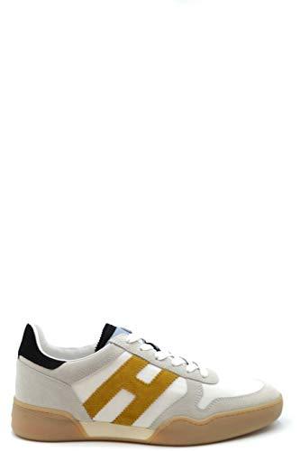 Hogan Luxury Fashion Herren PR023WHITE Weiss Leder Sneakers | Jahreszeit Outlet