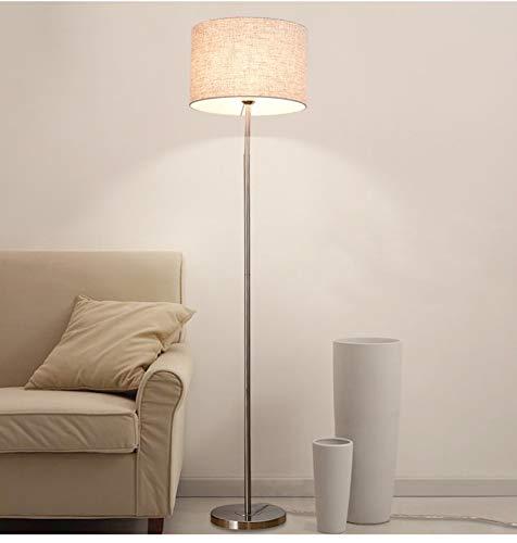 WUYUESUN Lámpara de pie para sala de estar, pantalla E27, níquel cepillado, bombillas LED para sala de estar, dormitorio, estudio (color de la pantalla A: A)