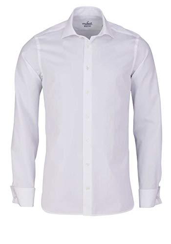 van Laack Herren RIVARA-DSFN Freizeithemd, Weiß (Weiß 000), 40