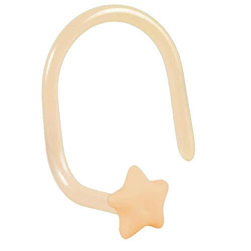 viva-adorno 0,8mm Nariz Piercing de Nariz Arqueado Flexible Estrella Bioflex Plástico Z467st...