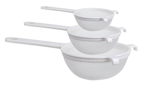 Culina Nylon Mesh Strainer Set of 3-4 in, 5½ in. and 7 in.