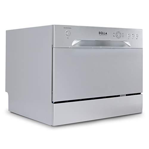DELLA Compact Dishwasher Countertop Small Kitchen Portable Dishwashers