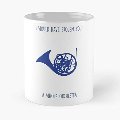 92Wear HIMYM How I Met Your Mother Blue French Horn Robin Ted TV - Il Migliore Regalo per Tazza da caffè in Ceramica da 11 Once