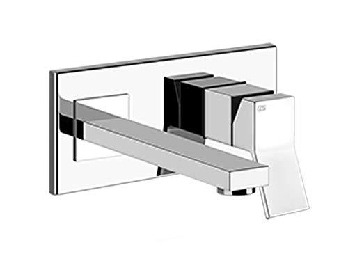 Gessi Rettangolo K rubinetto lavabo a parete 53089-Cromo