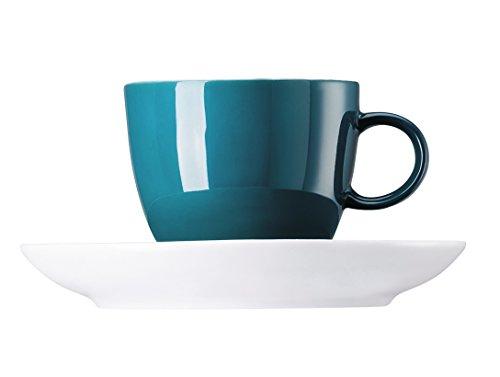 Rosenthal-Thomas 10850-408544-14720 Sunny Day Seaside - Juego de Tazas de café (2 Unidades), Color Verde