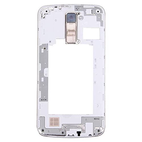 Repuestos para teléfonos móviles Placa de LCD Carcasa de reparación de marcos Piezas de repuesto Carcasa de placa trasera Panel de lentes de cámara con timbre de altavoz para LG K10 (Negro) (Color: Ne