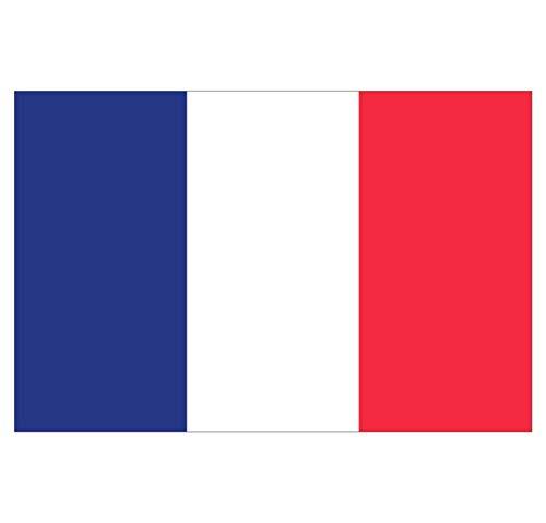 Supstick Stickers Nationale Vlag van Frankrijk 15 x 10 cm