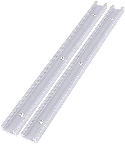 2 Stück 400mm/800mm Aluminiumlegierung T-Track T-Slot Track für Holzbearbeitung oder Router Tischsäge(800mm)