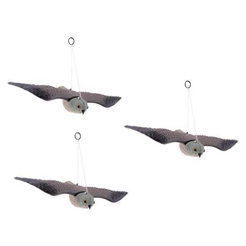 FLAMEER 3pcs Manches à Air Oiseau Faucon Scarabée Corne de Corbeau Décoration