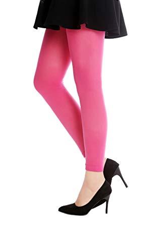 DRESS ME UP - W-014P-PINK Strumpfhose Leggings Pantyhose Damenkostüm Party Karneval Halloween Blickdicht rosa pink dunkelrosa S/M