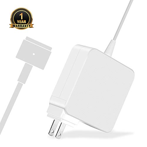 Mac Book Pro Charger, AC 60w Magsafe 2 T-Tip Power Adapter Charger Replacement for MacBook Pro 11-inch and 13 inch A1425 A1435 A1465 A1502 (Made After Late 2012)