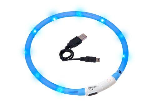 Karlie Visio Light LED Schlauchhalsband L: 20 - 70 cm blau