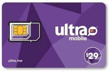 Ultra Mobile $29 Prepaid Calling Plan with 1 Month Service