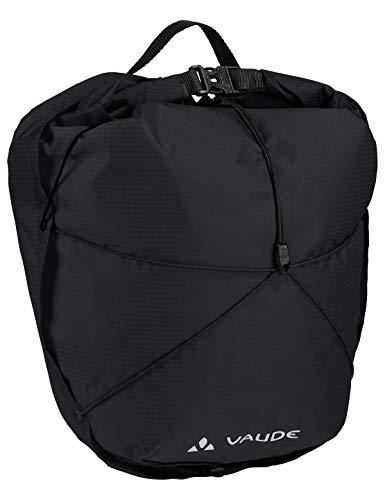 VAUDE Vorderradtaschen Aqua Front Light, Ultraleichte Vorderradtasche zum Radfahren, black, one Size, 129510100