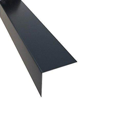 Alu Eckwinkel Anthrazit Kantenschutz 2 Meter (200 x 100 x 0,8 mm)