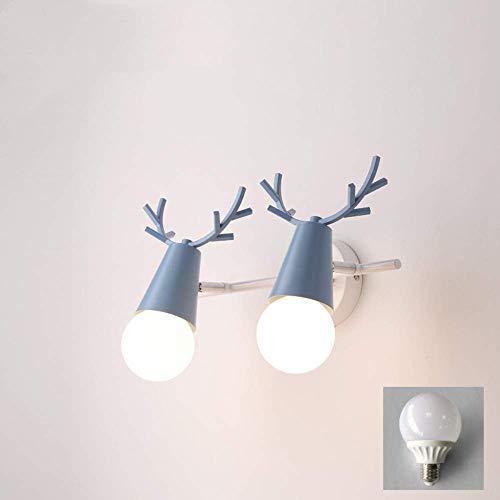 Lámparas de lavado de pared Lámpara de pared industrial Lámpara de pared LED moderna Lámpara de pared al aire libre Lámpara de pared americana Espejo Faro Luz de pared de asta O 35 * 15 cm