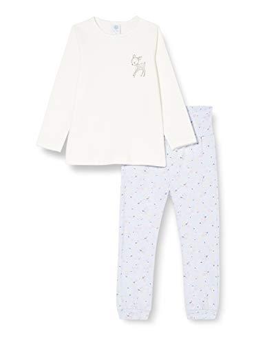 Sanetta Baby-Mädchen Broken Schlafanzug in Off-White mit niedlichen Design und herzigen Details, beige, 104