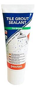 Sellador de juntas para duchas 200ml | No más grietas en las juntas de la ducha | Juntas blancas y sin moho | Reparador y renovador de azulejos especial baño
