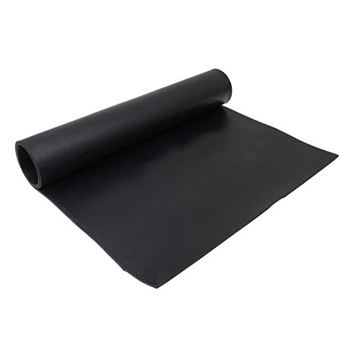 Black Rubber Sheet Plate, Neoprene Solid Rubber, Heat Resistant Gasket Pad for Plumbing, Gaskets DIY Material, Sealing, Bumpers, 30' x 16' x 1/8' (Length x Width x Thickness)