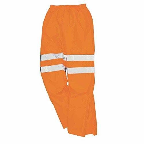 Portwest - Hoog zichtbaar polyester werkbroek - oranje, XX-Large
