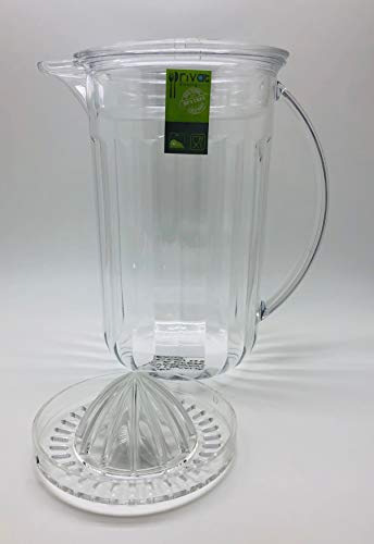 Wasserkrug – Fruchtaufguss-Krug – bruchsichere Infusionskanne – perfekt für Eistee, Saft, Getränke, Wasser (Squeezer-Krug)