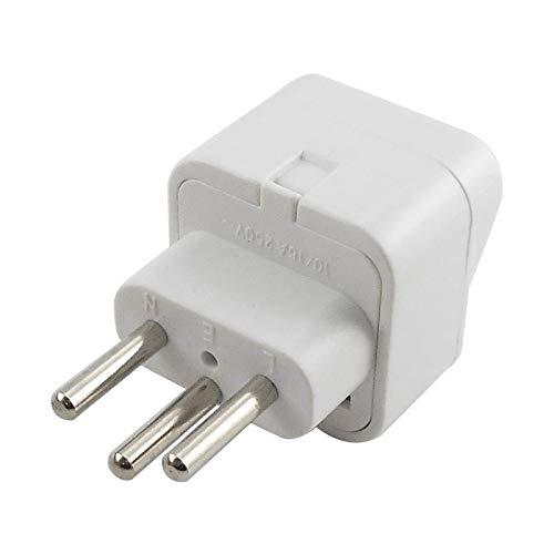 bobeini Universal UK/US/EU to Switzerland Swiss AC Plug Travel Adapter Converter Blanco