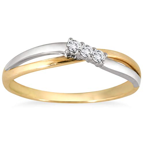 10k Two Tone Ring - 5
