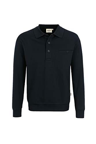 Hakro Herren Pocket-Polo-Sweatshirt Premium # 457 (L, schwarz)