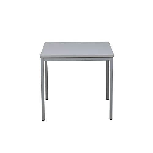Certeo Bürotisch | Quadratisch | HxBxT 75 x 70 x 70 cm | Grau | Schreibtisch Bürotisch Küchentisch Besprechungstisch Mehrzwecktisch