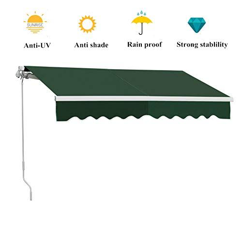 DKIEI Garden Awning for Patios DIY Manual Retractable Sun Shade Shelter Canopy...