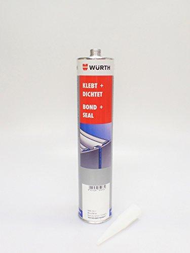 2 x Würth Konstruktionsklebstoff Klebt + Dichtet weiß (4011231819732) 300ml