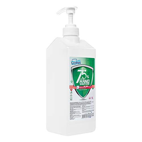 Rapid Care First Aid Cleace Advanced Premium 75% Alcohol 34 oz Instant Hand Sanitizer Gel, Kills More Than 99.99% of Germs & Bacteria, Pump Bottle (HS34-1)